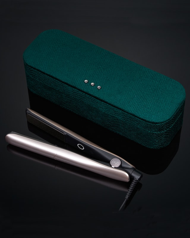 ghd gold in warm pewter with vanity case