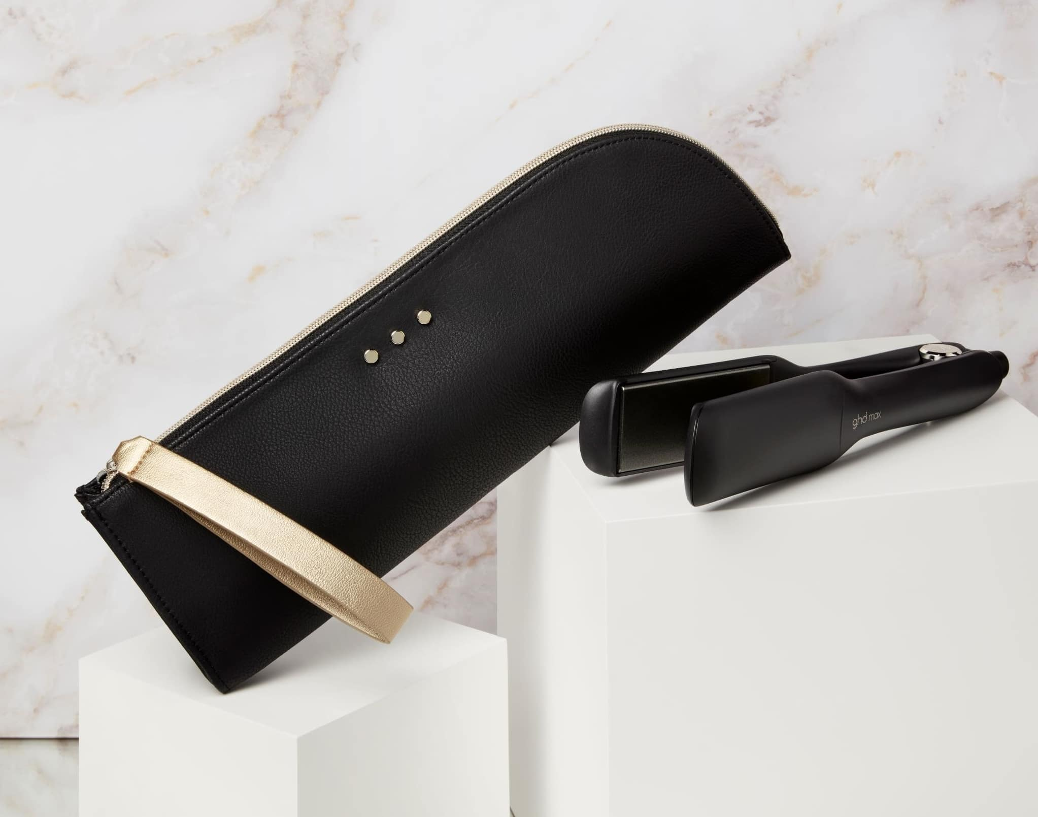 ghd max wide plate styler and Black heat resistant bag