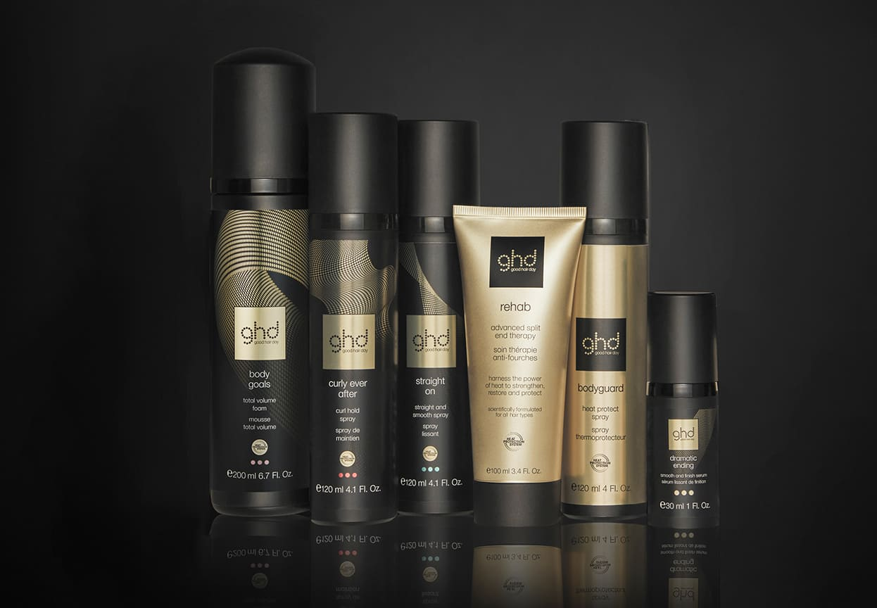 range of heat protect and styling products