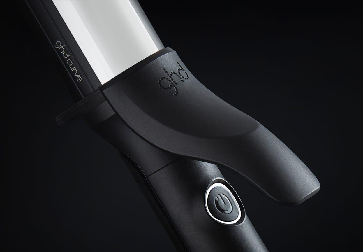 ghd soft curl iron lever close-up