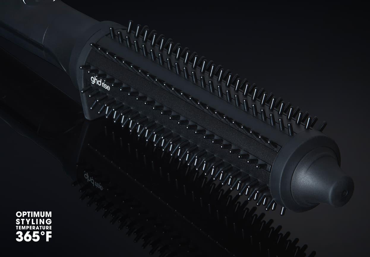 ghd rise volumizing hot brush bristle close-up