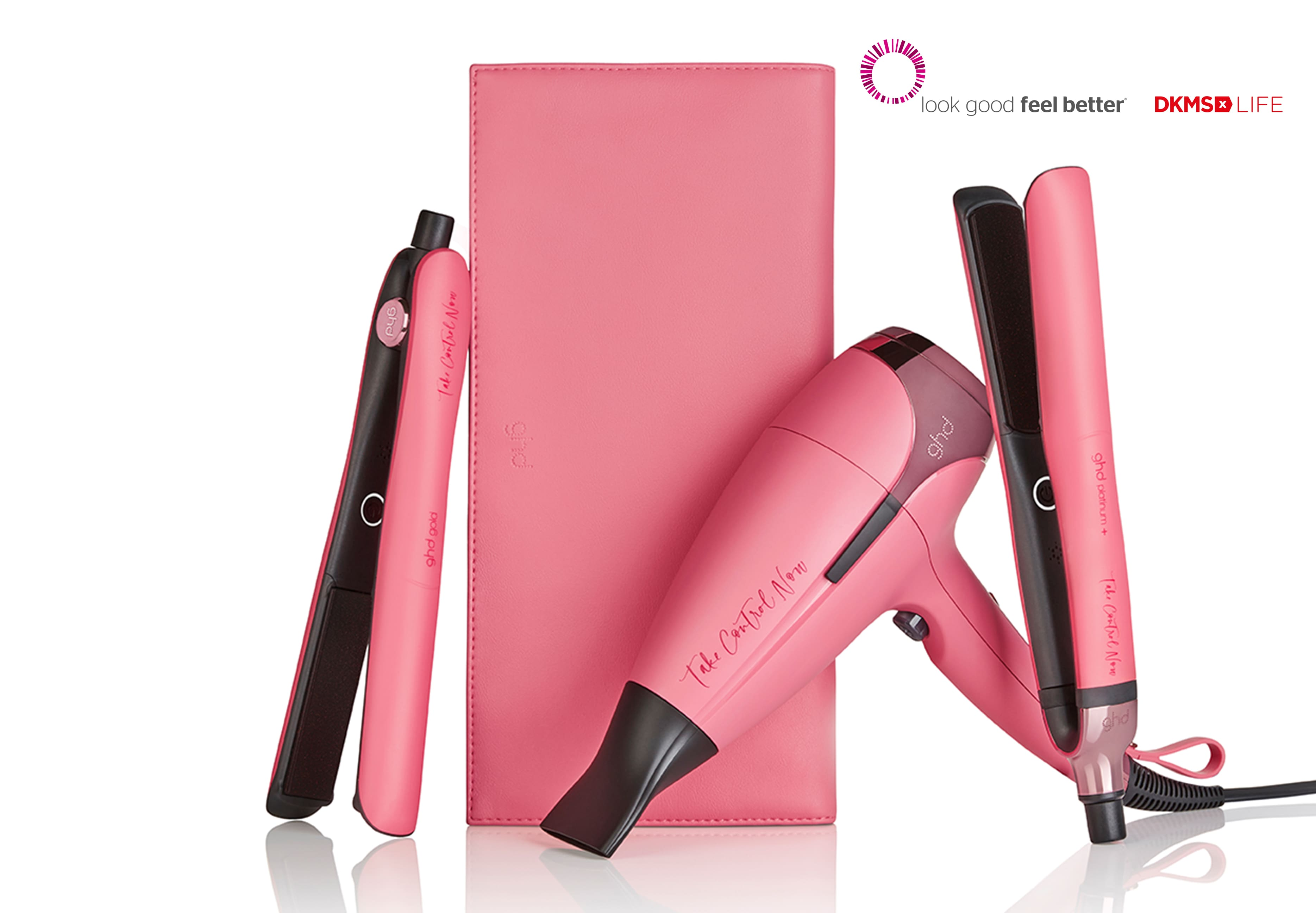 pinkes ghd Haarstylingtool Sortiment