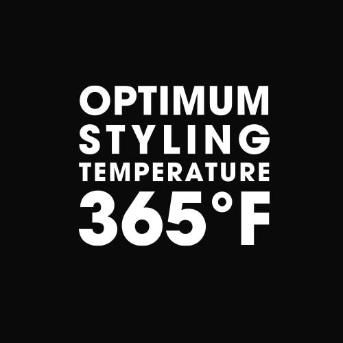 optimum styling temperature 365ºF icon