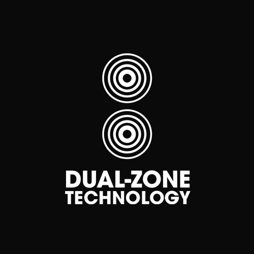 Tecnologia dual-zone ghd