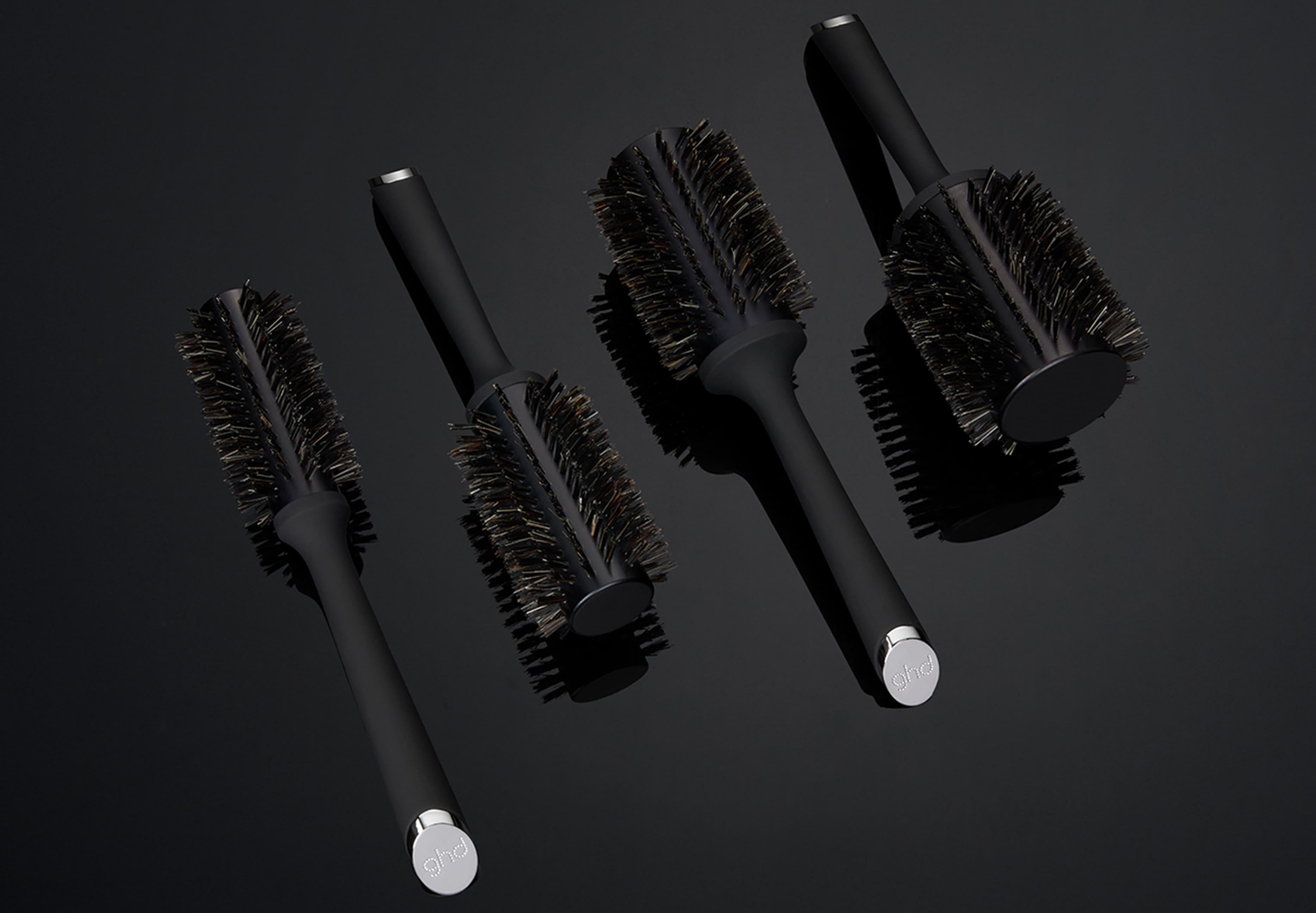 range of ghd natural bristle brushes